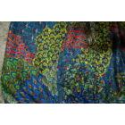 Thaiföldi pávamintás buggyos nadrág kék-tarka színben
