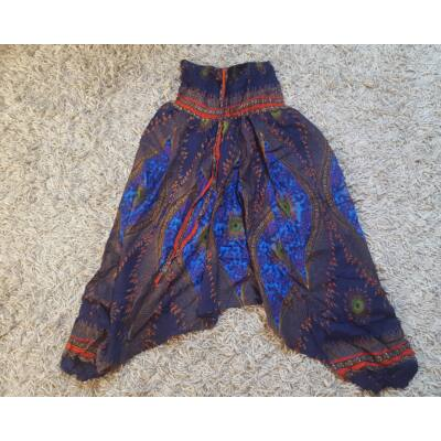 Buggyos Aladdin nadrág sötétkék alapon kék szem mintázattal