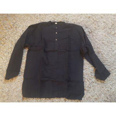 Hosszú ujjú nepáli ing fekete színben