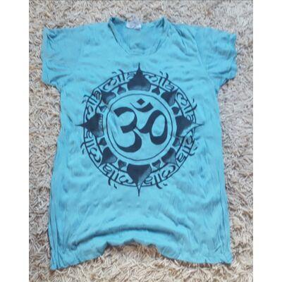 Női SURE DESIGN póló Om mintázattal kék színben-XL