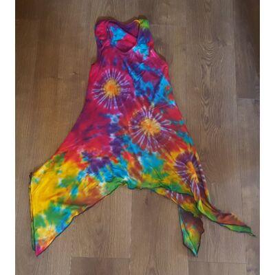Szuper könnyű batikolt ujjatlan ruha türkiz, lila, rózsaszín, sárga színben