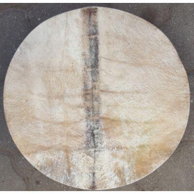 Sámándob kerek lóbőrből 50 cm átmérővel