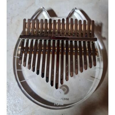 Plexi cicás kalimba 17 pengetővillával