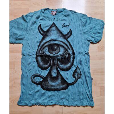 Férfi Sure póló harmadik szem mintázattal világoskék színben L méretben