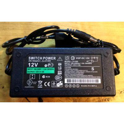 Hálózati adapter 12V/5A angyallámpához