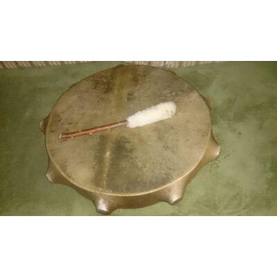 Sámándob kecskebőrből 20cm átmérő