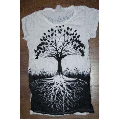Női SURE DESIGN póló életfa mintázattal fehér színben-L és M méretben