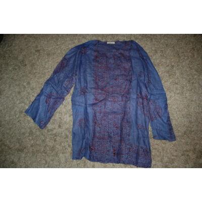 Könnyű nyári ing sötétkék színben mantra mintázattal
