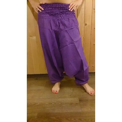 Indiai buggyos nadrág lila színben