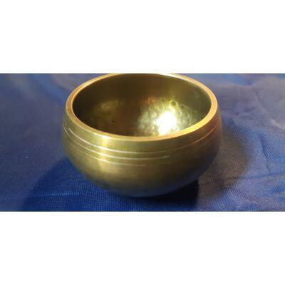 Tibeti hangtál 6. polírozott 7 fémből kézi készítésű, C hangolással