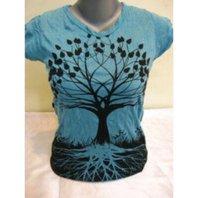 Női SURE DESIGN póló Életfa mintázattal kék színben