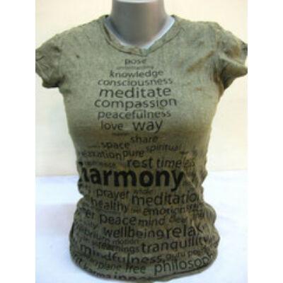 SURE DESIGN póló Harmony mintázattal keki színben-S