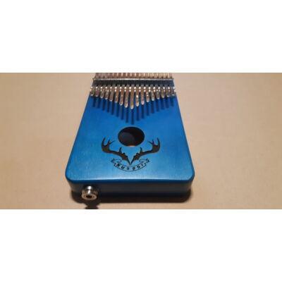Kalimba kék,2 oktávos rénszarvas mintával,jack bemnettel, hanganyaggal