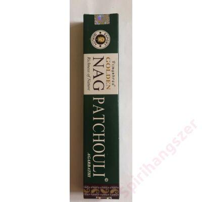 Füstölő Golden Nag Patchouli