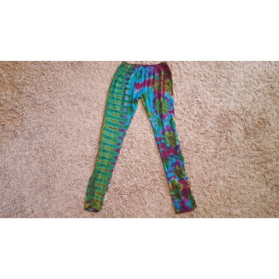 Női SURE DESIGN jóga legging türkiz-lila-zöld színben