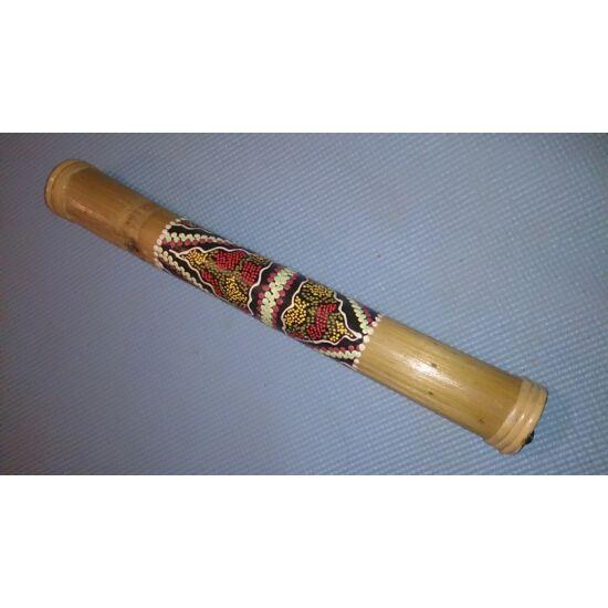 Bambusz esőbot 40 cm, Dot Paint festéssel 1.