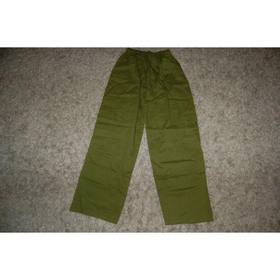 Indiai bő fazonú nadrág fűzöld színben