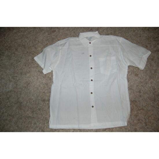 Rövid ujjú thaföldi gombos ing fehér színben