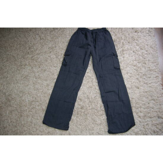 Nepáli fekete egyenes szárú nadrág