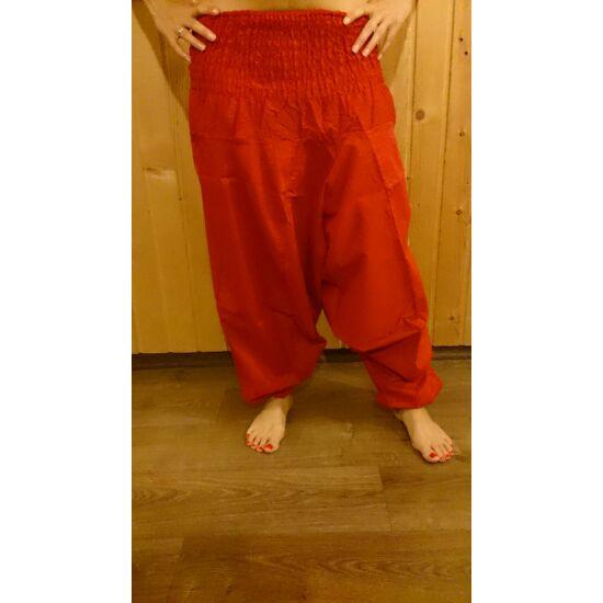 Indiai buggyos nadrág piros színben