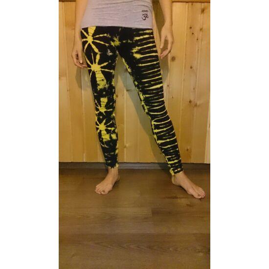 Női SURE DESIGN jóga legging fekete-sárga