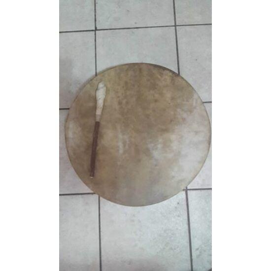 Sámándob szarvasbőrből, 50cm átmérővel,HANGANYAGGAL