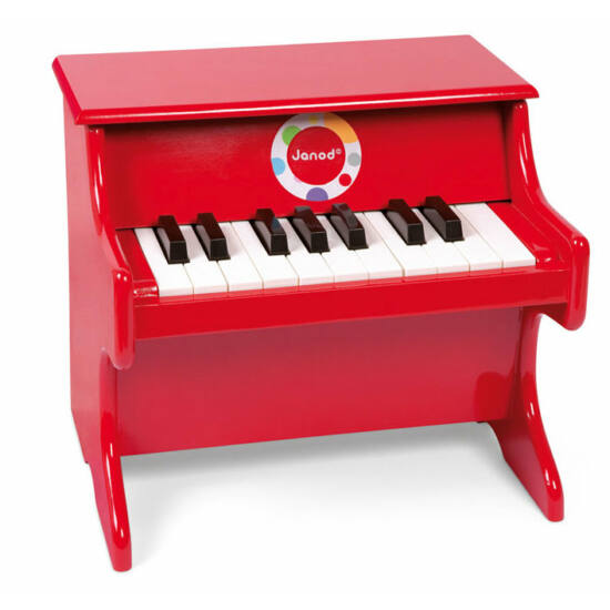 Zongora piros színben