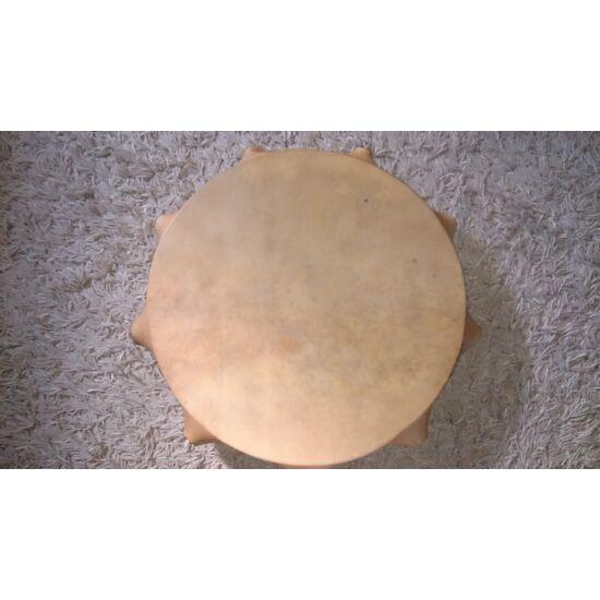 Sámándob szarvasbőrből bütykös, 50cm átmérővel,HANGANYAGGAL