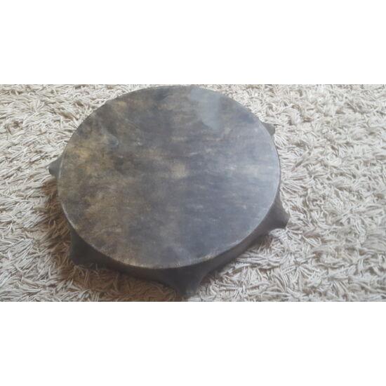 Sámándob bütykös lóbőrből 35 cm átmérővel