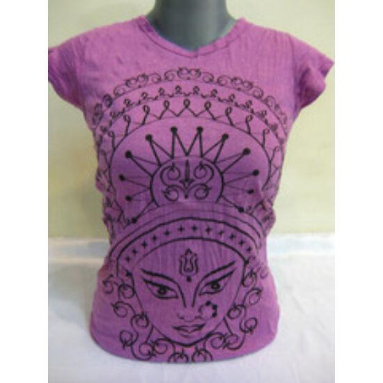 SURE DESIGN póló Durga mintázattal lila színben-S