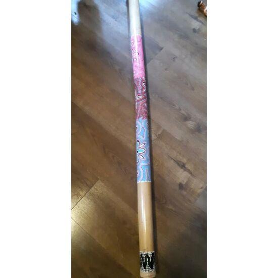 Bambusz esőbot 150 cm, dotpaintes mintával