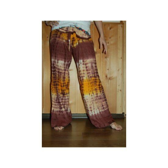 Hippi nadrág barna-narancs színben