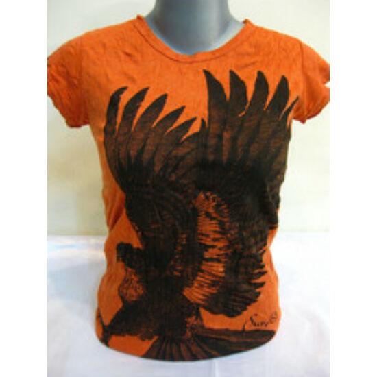 SURE DESIGN póló sas mintázattal narancs színben-S