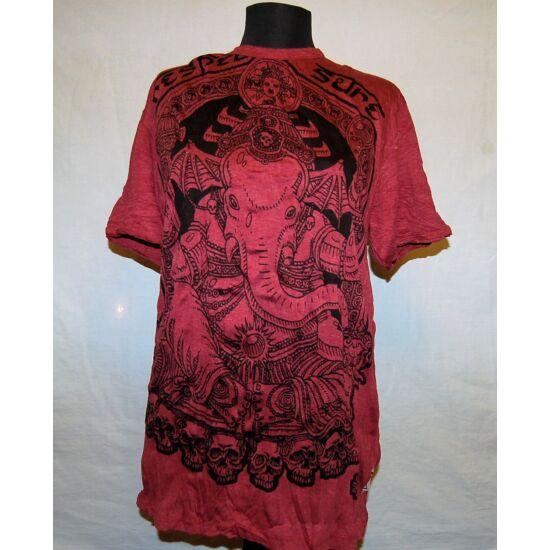 Unisex Sure Design póló batman Ganésha rajzolattal bordó színben