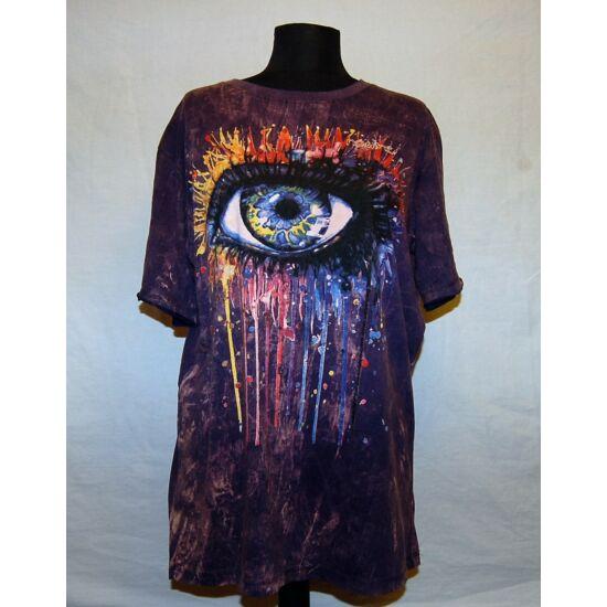 Unisex Sure Design póló óriásszem rajzolattal lila színben