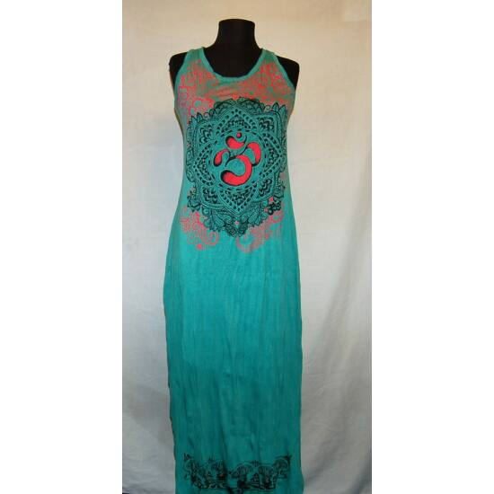 Sure Design hosszú ruha Om rajzolattal zöld színben