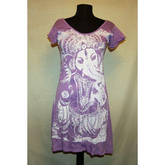 Sure Design ruha Ganésha mintázattal lila színben