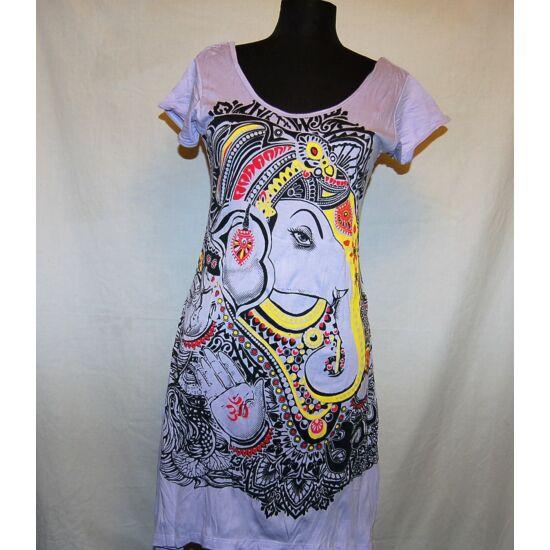 Sure Design ruha színes Ganésha mintázattal világoslila színben