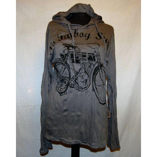 Sure Design unisex kapucnis póló Harley Davidsonnal szürke színben