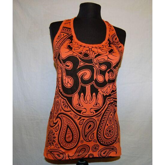 Unisex Sure Design trikó Om szimbólummal narancs színben